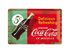 Retro metallposter Coca-Cola 5c Delicious Refreshing 20x30 cm SG-114867