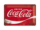 Retro metallposter Coca-Cola Logo 20x30 cm