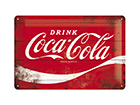 Retro metallposter Coca-Cola Logo 20x30 cm SG-114878