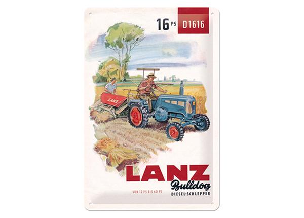 Retro metallijuliste Lanz Diesel-Schlepper 20x30 cm SG-114905