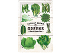 Retro metallposter Locally Grown Greens 20x30 cm SG-114906