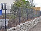 Заборная панель 2D RAL7016, 6/5/6 mm 143x250 cm