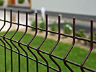 Заборная панель 3D RAL8017, 4 mm 203x250 cm