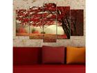 Viieosaline seinapilt Tree 100x60 cm