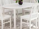 Удлиняющийся обеденный стол 100x100-139 cm, белый