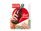Retro metallposter Coca Cola Good with food 30x40 cm SG-118293