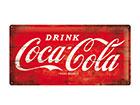 Retro metallposter Coca-Cola logo 25x50 cm