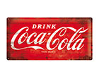 Retro metallposter Coca-Cola logo 25x50 cm SG-118302