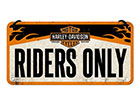 Retro metallposter Harley Davidson Riders Only 10x20 cm