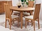 Tammi jatkettava ruokapöytä BASEL 90-130x90 cm + 4 tuolia SANDRA