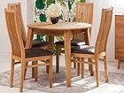 Tammepuust pikendatav söögilaud Basel 90-130x90 cm+ 4 tooli Sandra
