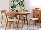 Tammi jatkettava ruokapöytä BASEL 90-130x90 cm + 4 tuolia IRMA