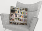 Dekoratiivpadjapüür Books 45x45 cm