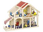 Двухэтажный домик с верандой для кукол