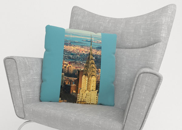 Dekoratiivpadjapüür Chrysler Building 50x50 cm