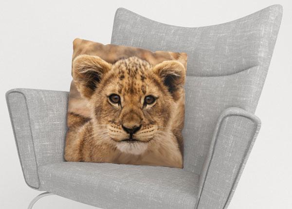 Koristetyynyliina CUTIE LION 50x50 cm