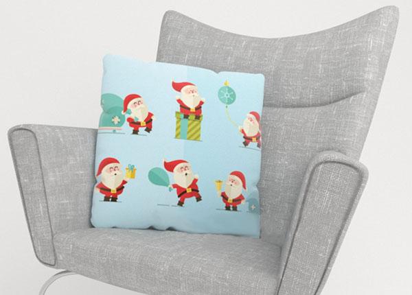 Dekoratiivpadjapüür Happy Santas 50x50 cm