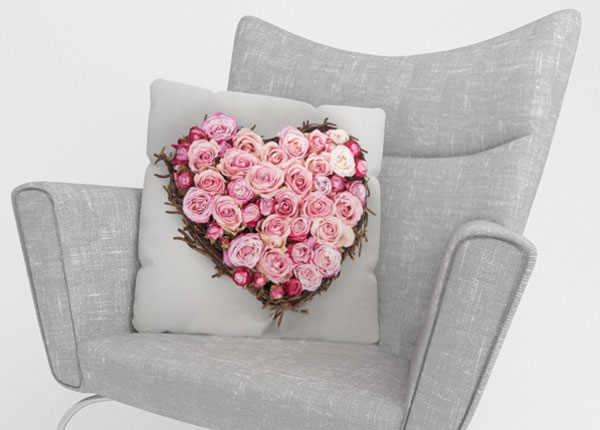 Dekoratiivpadjapüür Heart of Love 45x45 cm