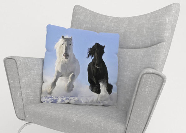 Koristetyynyliina HORSES 40x60 cm