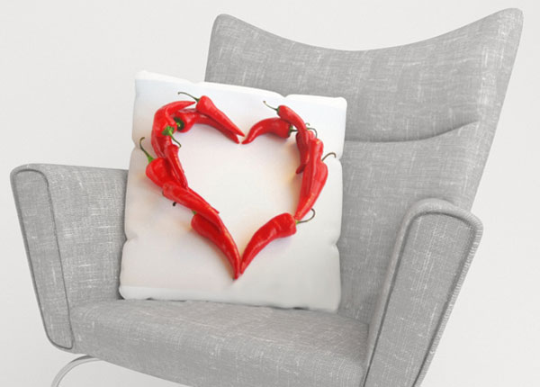 Koristetyynyliina HOT HEART 45x45 cm