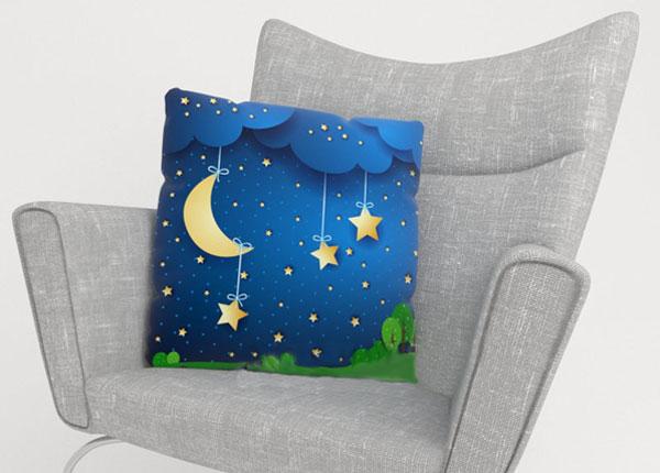 Koristetyynyliina MOON AND STARS 50x50 cm