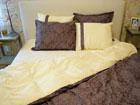 6-osaline puuvillasatiinist voodipesukomplekt Kuninglik pruun 200x210 cm