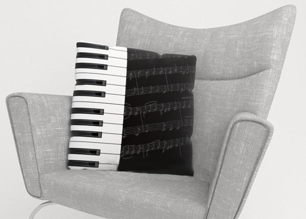 Dekoratiivpadjapüür Piano Keys 50x50 cm