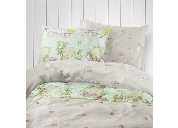 Laste voodipesukomplekt Pink Bear