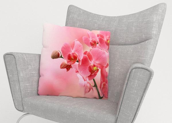 Dekoratiivpadjapüür Pink Orchids 50x50 cm