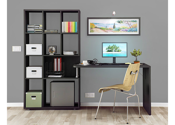Työpöytä ja hylly Tech