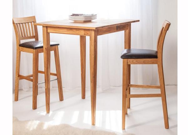 Tammi baaripöytä + 2 baarituolia