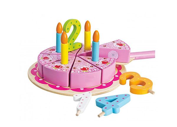 Деревянный торт на день рождения