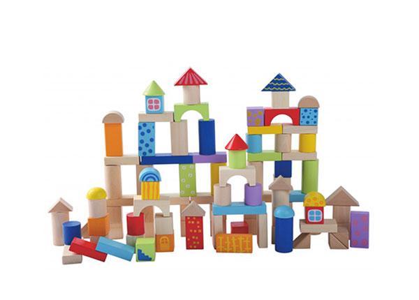 Puidust ehitusklotsid
