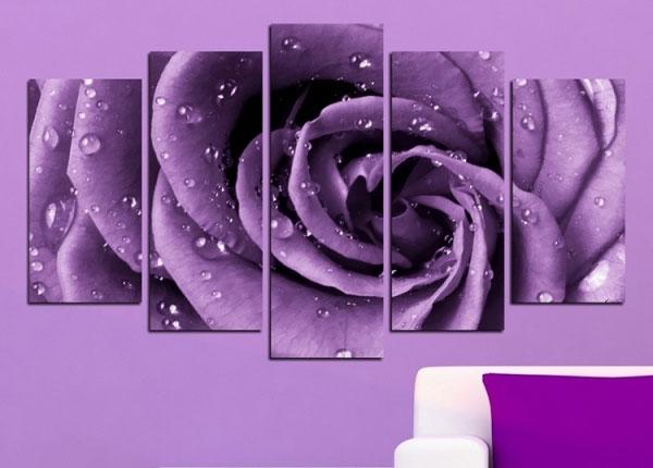 Viieosaline seinapilt Rose Motif 100x60 cm