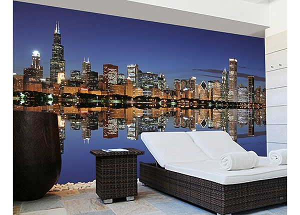 Itseliimautuva kuvatapetti CHICAGO REFLECTION 270x360 cm