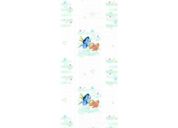 Fleece-tapetti DORY AND NEMO LOVE TO SWIM, WHITE 53x1000 cm