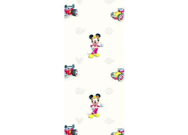 Fliistapeet Mickey Mouse Roadster, Beige 53x1000 cm