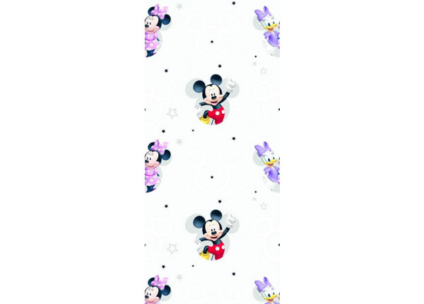 Fleece-tapetti MICKEY MOUSE AND GIRLS, GREY 53x1000 cm