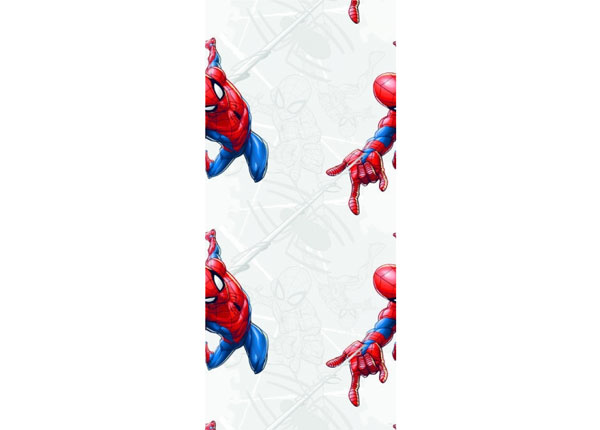Fleece-tapetti SPIDER MAN WITH WEB, GREY 53x1000 cm