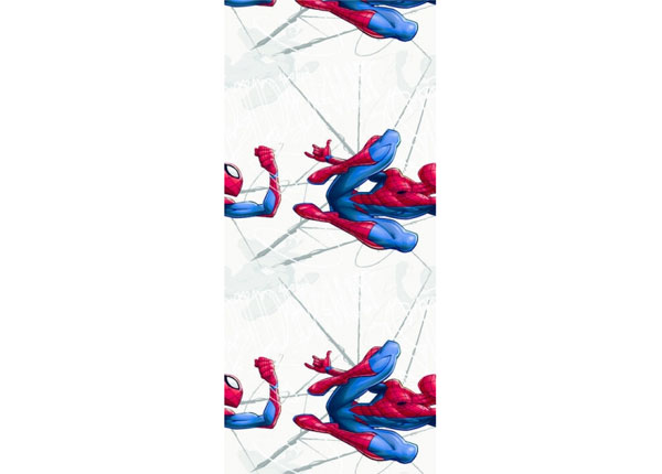 Fleece-tapetti SPIDER MAN JUMPING, GREY 53x1000 cm