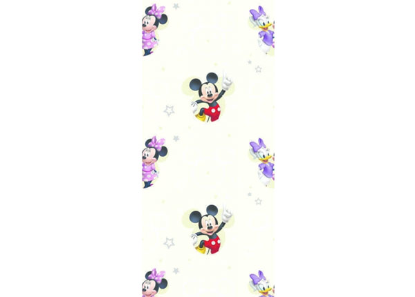 Fleecetapetti MICKEY MOUSE AND GIRLS, BEIGE 53x1000 cm