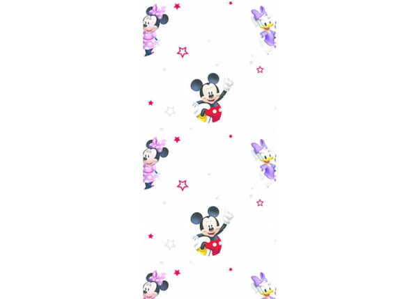 Fleecetapetti MICKEY MOUSE AND GIRLS, WHITE 53x1000 cm