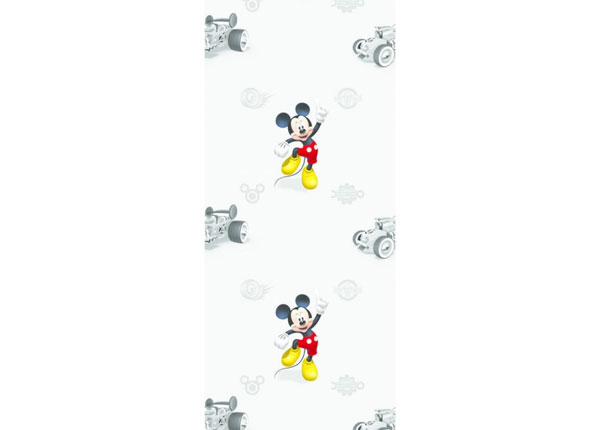 Fleecetapetti MICKEY MOUSE CLASSIC, GREY 53x1000 cm