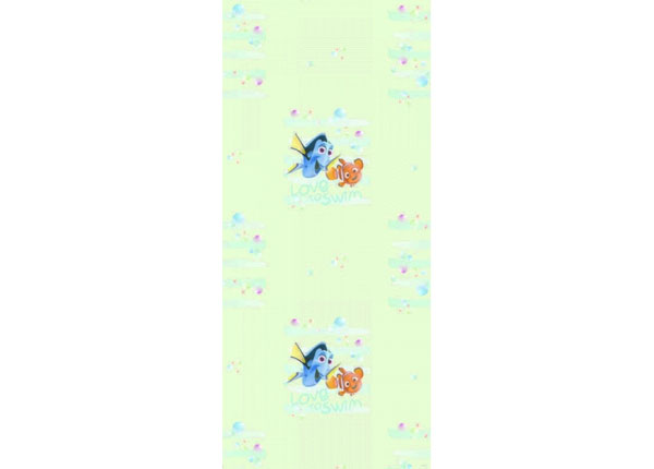 Fleecetapetti DORY AND NEMO LOVE TO SWIM, LIGHT GREEN 53x1000 cm