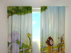 Läbipaistev kardin Funny animals 240x220 cm ED-128617