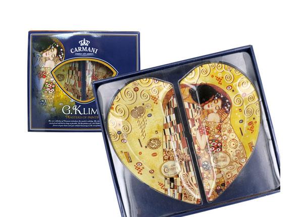 Südamekujuline taldrikute komplekt G. Klimt
