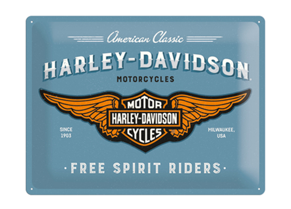 Retro metallijuliste Harley-Davidson logo 30x40 cm SG-129680