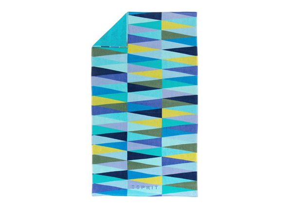 Rantapyyhe ESPIRIT PYRAMID BLUE 100x180 cm AÄ-129888