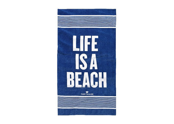 Rantapyyhe TOM TAILOR, LIFE IS A BEACH 85x160 cm AÄ-129890