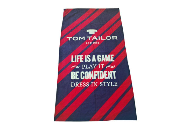 Rantapyyhe TOM TAILOR, LIFE IS A GAME 85x160 cm AÄ-129891